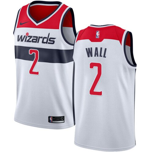 Swingman John Wall Home Jersey: #2 White Men's Nike NBA Washington Wizards Association Edition Clearance