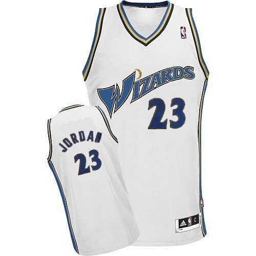 Authentic Michael Jordan Jersey: #23 White Men's Adidas NBA Washington Wizards Special Deal