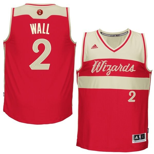 Swingman John Wall Jersey: #2 Red Men's Adidas NBA Washington Wizards 2015-16 Christmas Day Best