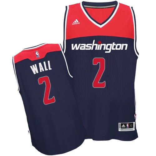 Swingman John Wall Alternate Jersey: #2 Navy Blue Men's Adidas NBA Washington Wizards Clearance