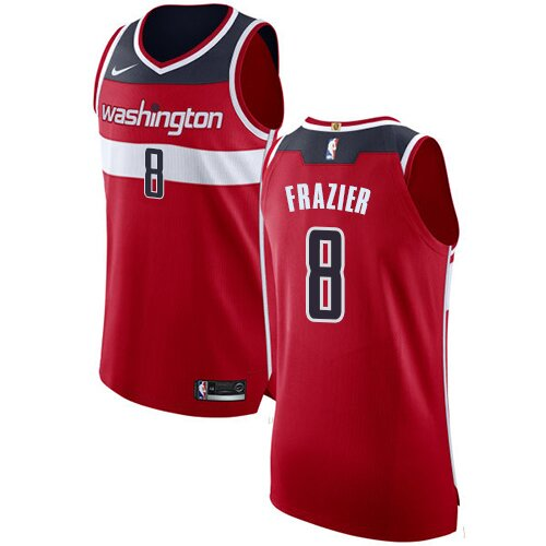Authentic Tim Frazier Road Jersey: #8 Red Youth Nike NBA Washington Wizards Icon Edition Perfect