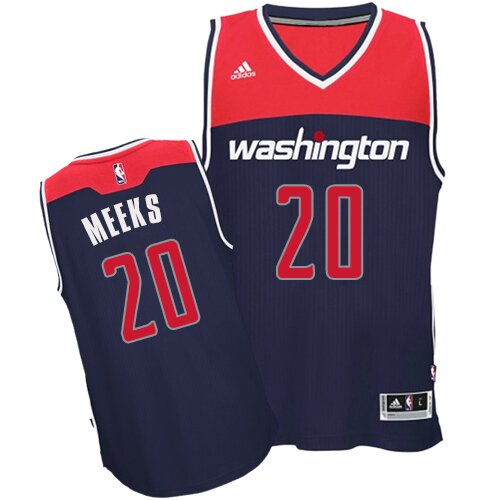 Authentic Jodie Meeks Alternate Jersey: #20 Navy Blue Women's Adidas NBA Washington Wizards Popular