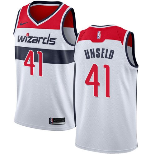 Swingman Wes Unseld Home Jersey: #41 White Youth Nike NBA Washington Wizards Association Edition personalized